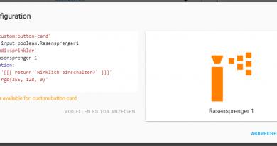 ioBroker Visualisierung mit lovelace – Teil 16 – Widgets zur Steuerung von Aktoren – Das Button-Card Widget